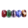 Fire polished 7mm Donuts Multi Two-tone Strung